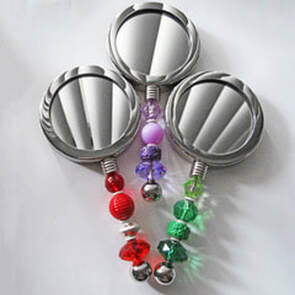 Custom-Designed Silver-Plated Vanity Mirrors (CUS-VM) $65.00